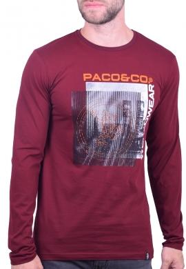 Paco & co Μπλούζα 202570 με τύπωμα μπορντό