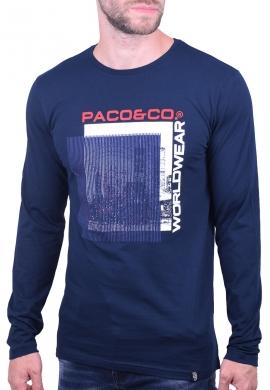 Paco & co Μπλούζα 202570 με τύπωμα μπλε