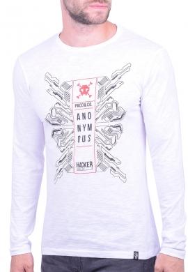Paco & co Μπλούζα 202553 με τύπωμα λευκή