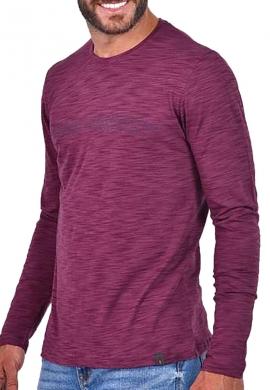 Clever μπλούζα 20290 μακρυμάνικη με τύπωμα μπορντό