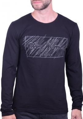 Clever μπλούζα 20270 μακρυμάνικη με τύπωμα μαύρη