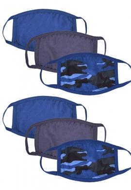 Σετ 6 Μάσκες προσώπου υφασμάτινες με σχέδιο παραλλαγής