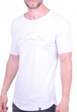 Paco & co t-shirt 202573  μακρύ λευκό