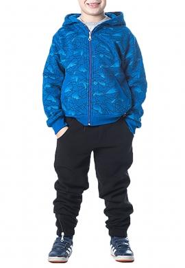 Joyce σετ φόρμας αγόρι  με ζακέτα 202403 μπλε