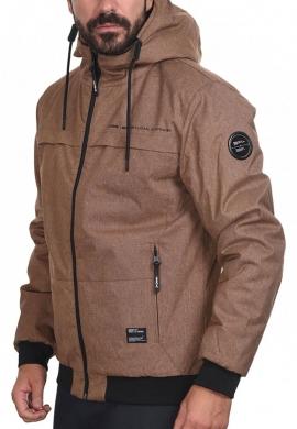 Biston 44-201-012 ανδρικό φουσκωτό μπουφάν κοντό καμηλό