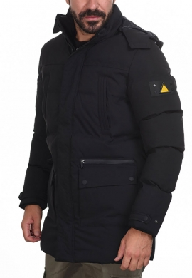 Splendid 44-201-018 ανδρικό φουσκωτό μπουφάν μακρύ μαύρο