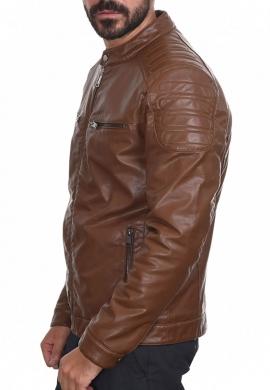 Splendid μπουφάν δερματίνης biker 44-201-044 καφέ