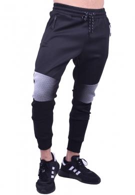 Παντελόνι φόρμας τύπου biker μαύρο