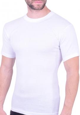 Ανδρική βαμβακερή κοντομάνικη φανέλα λευκή