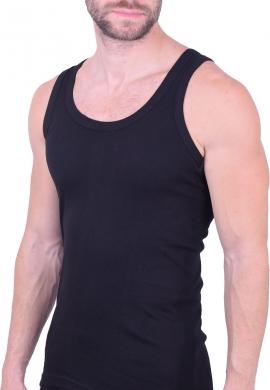 Ανδρική βαμβακερή αμάνικη φανέλα μαύρη