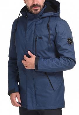 Biston 44-201-014 ανδρικό demi μπουφάν με κουκούλα μπλε