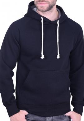 Ανδρικό φούτερ με  κουκούλα μαύρο
