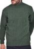Clever Μπλούζα Ζιβάγκο 20700 Πλεκτή χακί