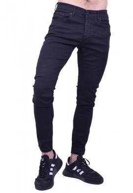 Παντελόνι τζιν slim fit μαύρο