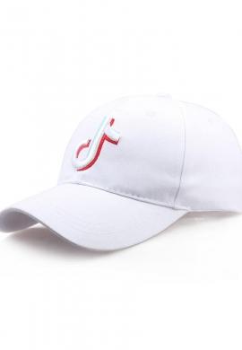 Ανδρικό καπέλο τζόκεϊ tik tok λευκό
