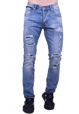 Παντελόνι τζιν με σκισίματα και μπαλώματα