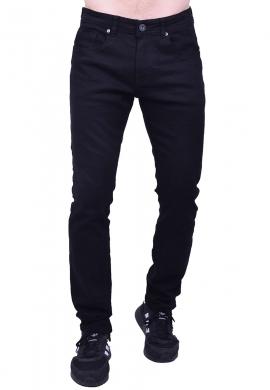 Παντελόνι τζιν ελαστικό σε ίση γραμμή black