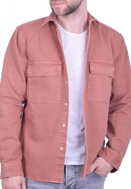 Τζιν overshirt με τσέπες