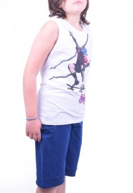 Joyce Σετ μπλούζα με βερμούδα 211740 με τύπωμα skate