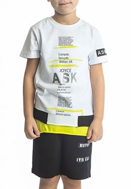 Joyce Σετ μπλούζα με βερμούδα 211735 με τύπωμα 2τμχ