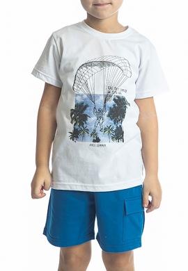 Joyce Σετ μπλούζα με βερμούδα 211754 με τύπωμα 2τμχ