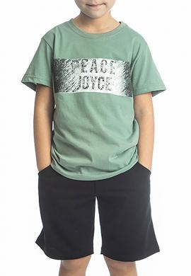 Joyce Σετ μπλούζα με βερμούδα 211720 με τύπωμα 2τμχ