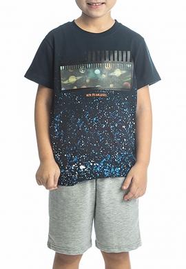 Joyce Σετ 211727 μπλούζα με τύπωμα και βερμούδα  2τμχ