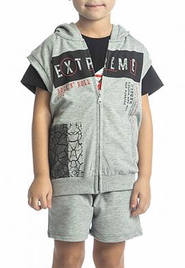 Joyce Σετ 2117560 ζακέτα μπλούζα και βερμούδα  3τμχ