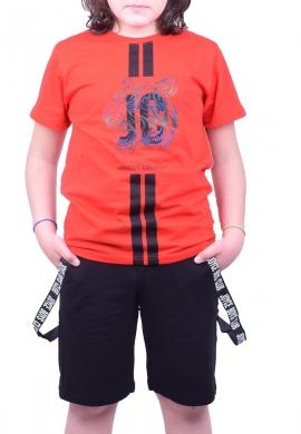 Joyce Σετ μπλούζα με βερμούδα 211736 με τύπωμα 2τμχ