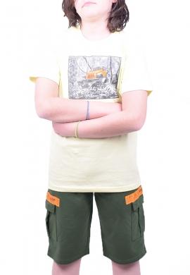 Joyce Σετ μπλούζα με βερμούδα 211729 με τύπωμα 2τμχ
