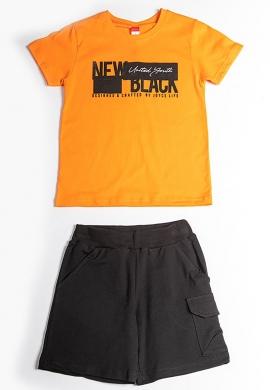 Joyce Σετ μπλούζα με βερμούδα 211752 με τύπωμα 2τμχ
