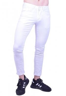 Παντελόνι τζιν  λευκό