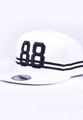 Ανδρικό καπέλο snapback με σχέδια λευκό