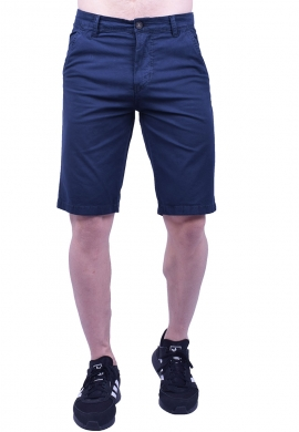 Βερμούδα υφασμάτινη chino τσέπη μπλε