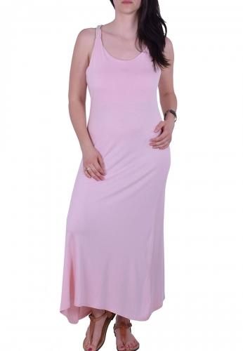 e6780c0d59d4 Φόρεμα μακρύ με άνοιγμα στην πλάτη ροζ - Moda4u