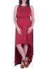 Φόρεμα Ασύμμετρο Με Ουρά Μπορντώ