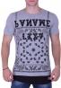 T-Shirt Paisley and Zips Grey