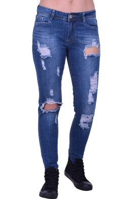 Παντελόνι τζιν με σκισίματα