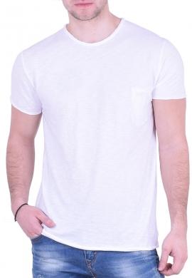 T-Shirt  με τσεπάκι Λευκό