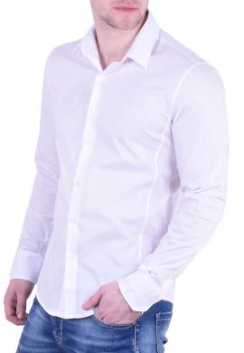 Ανδρικό Πουκάμισο μονόχρωμο λευκό
