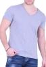 T-Shirt Simple V Blue