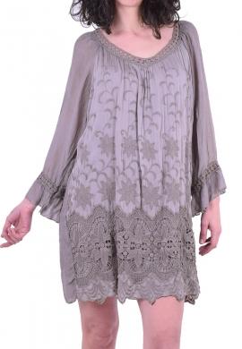 Φόρεμα κοντό με δαντέλα πούρο