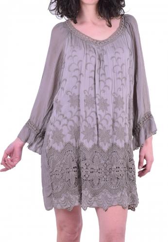 5dbaa53ee41a Φόρεμα κοντό με δαντέλα πούρο - Moda4u