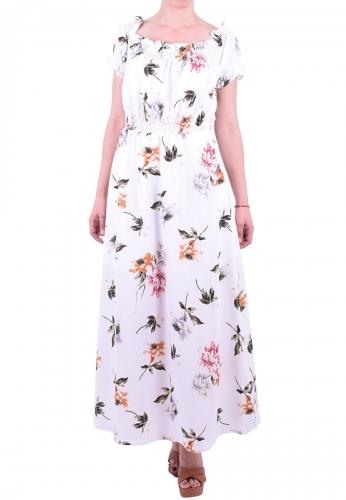 ea05c47c0026 Φόρεμα maxi floral λευκό - Moda4u