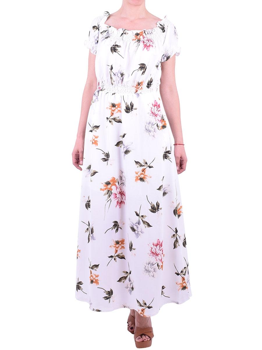 09d771c252da Φόρεμα maxi floral λευκό - Moda4u