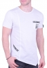 T-Shirt ασύμμετρο με τσεπάκι λευκό