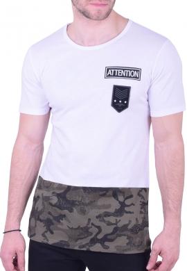 T-Shirt με σχέδιο παραλλαγής στο τελείωμα