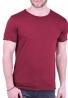 T-Shirt με λαιμόκοψη μπορντό