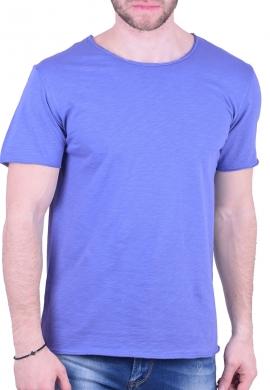 T-Shirt Με Λαιμόκοψη Σιέλ