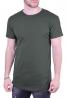 T-Shirt μακρύ μονόχρωμο χακί